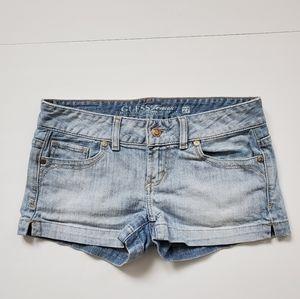 Guess Light Blue Denim Short Shorts Size 27